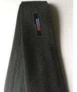 Tie Necktie Black White Variegated Abstract Design Red Blue Skinny Narrow - $25.69