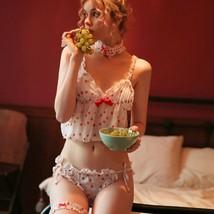 Japanese Kawaii Lolita Cute Cosplay Maid Costume Strawberry Lingerie Paj... - $24.88