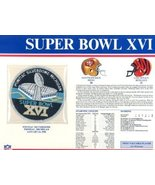 Super Bowl 16 Patch and Game Details Card - $24.70