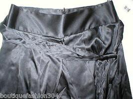 New NWT $448 Designer Elie Tahari Toni Pants 8 Silk Wide Leg Tall Black ... - $448.00