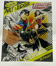 Crayola Art with Edge Justice League Coloring Pages Batman Superman Wond... - $6.92
