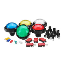60MM 6CM Red Blue Yellow Green White Push LED Button for Arcade Game Con... - $9.20