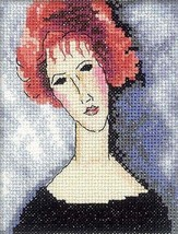 Counted Modern Cross Stitch Hand Embroidery Kit Mystic Woman - $6.47
