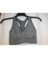 NEW HANES WOMENS PLUS SIZE 3X B-C GRAY SPACEDYE SEAMLESS PULLOVER SPORTS... - $13.54