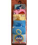 Sonic The Hedgehog 5pk Fun Crew Socks Sz 8-12 Age 14+ Unisex Novelty - $24.75