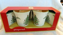 Spode Christmas Tree 2 Mug and Coaster Gift Set Pimpernel In Original Bo... - $16.50