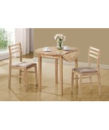 NEW 3 Piece Dinette Drop Leaf Table Dining Set For 2 Chairs Kitchen Nook... - $239.99