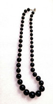 Women's Fashion Black & Silver Beaded Necklace - $11.99