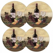 Reston Lloyd Electric Stove Burner Covers, Set of 4, Wine and Vines, New - $11.69