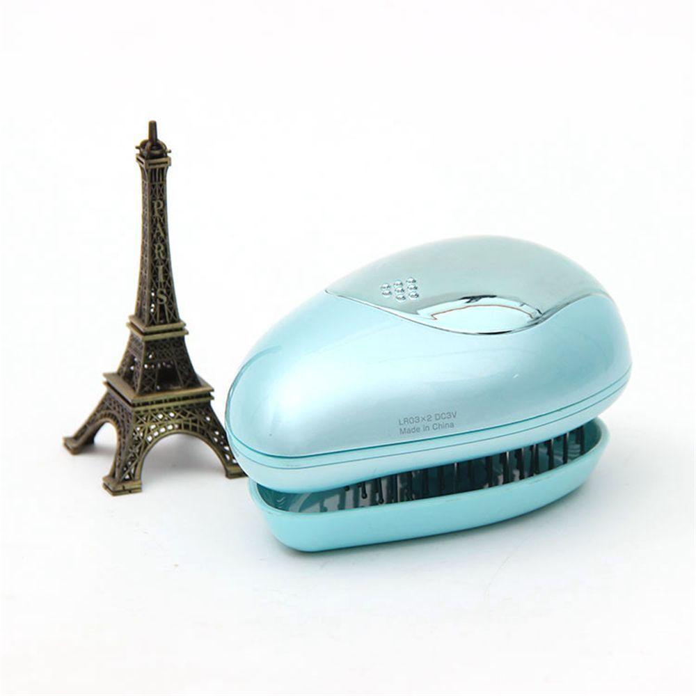 Portable Electric Hair Ionic Brush Hair Straightener Brush Negative Anti-static