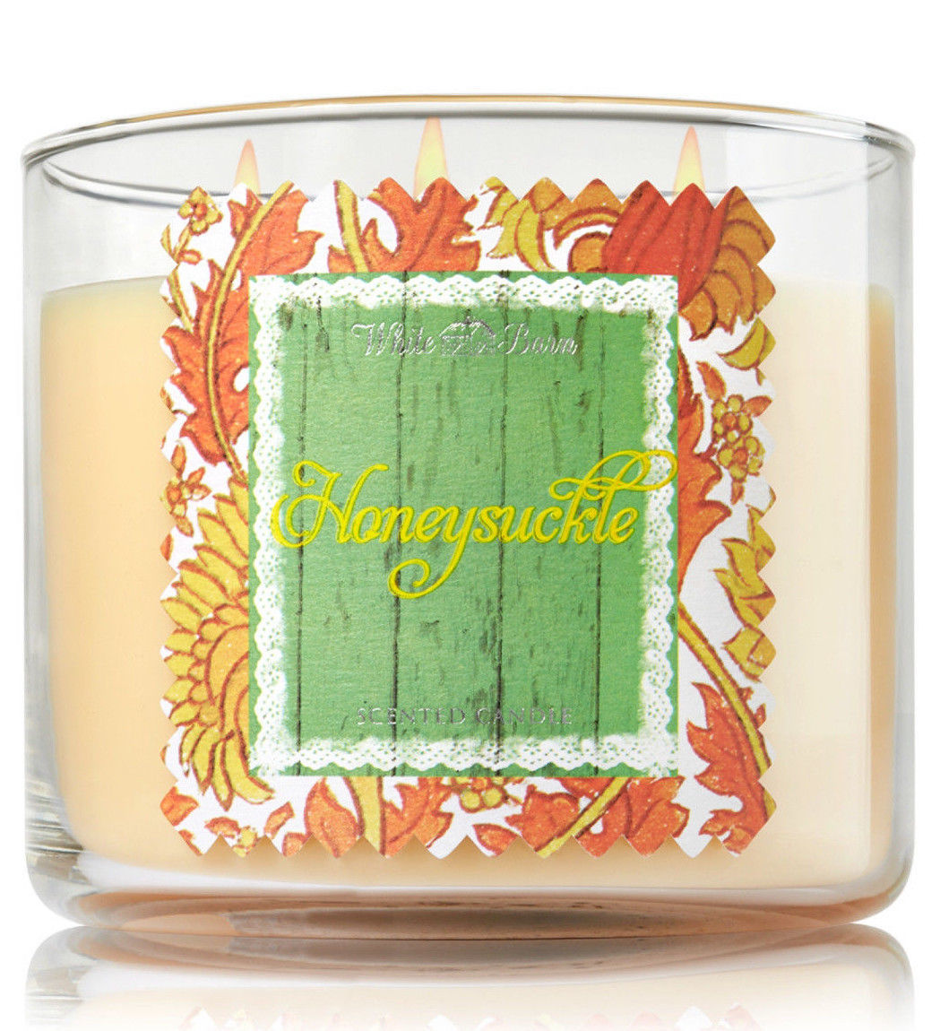 Bath & Body Works Honeysuckle Three Wick 14.5 Ounces Scented Candle image 3