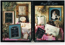 LOVE BROUGHT US TOGETHER  - STONEY CREEK CROSS STITCH BOOK - $7.87