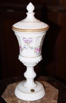 Westmoreland 'Roses and Bows' Milk Glass  Footed Compote Urn Dish w/Lid ... - $69.99