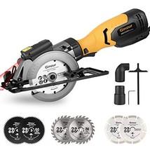 Circular Saw, Ginour 6.2A Mini Circular Saw with Laser Guide, 6 Blades2 ... - $124.39