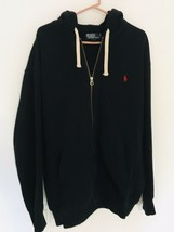 Polo Ralph Lauren Full Zip Hoodie Men's Jacket Polo Black XLT Tall Heavy... - $47.47