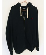 Polo Ralph Lauren Full Zip Hoodie Men's Jacket Polo Black XLT Tall Heavy... - $47.47