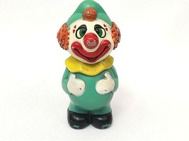 """Vintage Plastic Clown Figure Baby Toy Cake Topper Made in Hong Kong 4"""" - $9.46"""