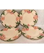 "4 Vintage Franciscan Desert Rose 7 5/8"" Salad Plate Arch Mark California - $58.29"