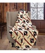 Beige Native Luxury Soft Light Weight New Fleece Cashmere Throw Blanket ... - $31.95