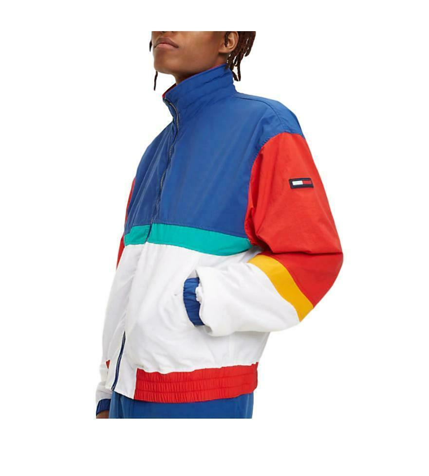 Jacket Man Tommy Jeans Hilfiger Denim White Multicolor Logo Vintage Urban image 3