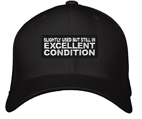 Funny Quote Hat - Adjustable Mens Black - Slightly Used But Still In Excellent C