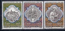 1974 St Bonaventure Set of 3 Vatican Postage Stamps Catalog Number 558-60 MNH