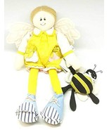 Center Street Design Believe Plush Angel Figurine with Bumblebee 12 Inches - £14.01 GBP