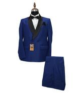 Men Blue Two Piece Suits Designer Elegant Dinner Party Wear Wedding Suit - $159.99