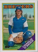 1988 Topps Baseball Card, #566, Charlie O'Brien, Milwaukee Brewers, Rookie - $0.99