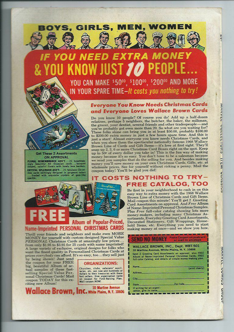 Marvel Collectors Item Classics #17 Original Comic Book 1968 Fantastic Four Sale