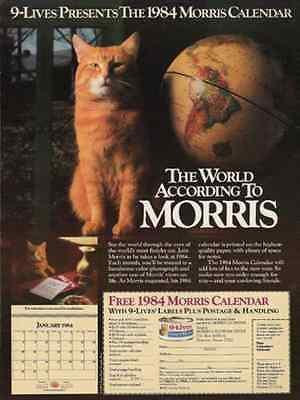 Morris AD Map Globe 1983 Calendar Premium Photo Illustration Wall Decor Wall Art