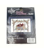 Bucilla Gallery of Stitches Counted Cross Stitch Kit Country Cottage 5x7... - $12.61