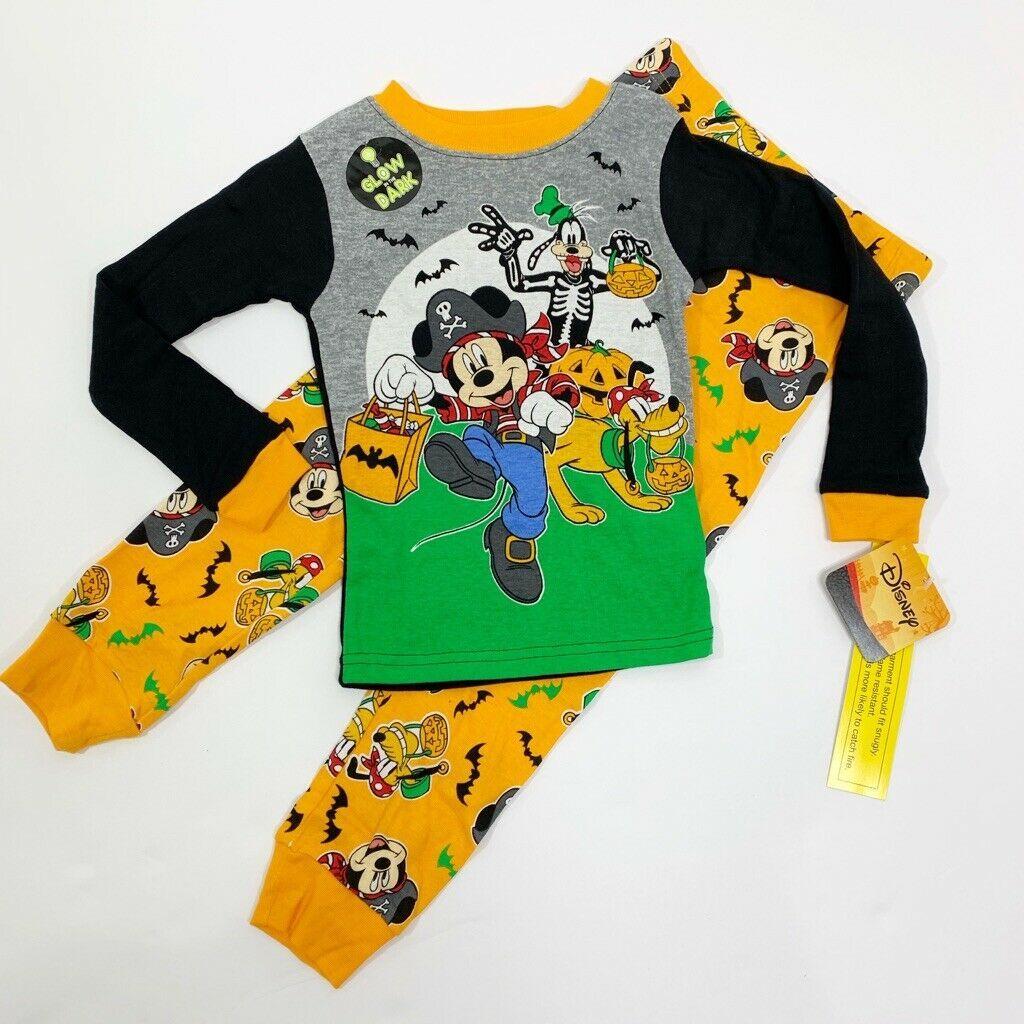 Disney Baby Boys Mickey Mouse Two-Piece Halloween Pajamas