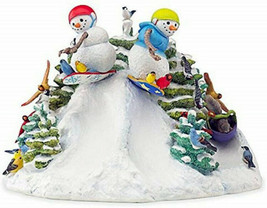 Lenox Shredding The Snow Country Lynn Bywaters Snowman Figurine New in Box - £115.00 GBP