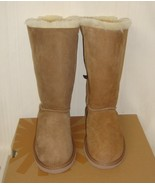 UGG Chestnut TRIPLE TRIPLET BAILEY BOW Tall Boot Youth Size 3 = Women's ... - $108.85