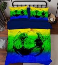 3D Football 121 Bed Pillowcases Quilt Duvet Cover Set Single Queen King Size AU - $64.32+