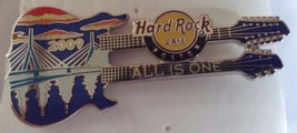 Hard Rock Cafe Boston 2009 All is One City Double Neck Guitar Pin Souvenir - $24.18