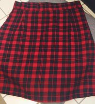 Red and Black Plaid Skirt Women Girl Plaid Skirt-School Mini Red Plaid Skirt image 3