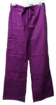 Unbranded Scrub Pants XS Purple Elastic Drawstring Uniform Bottoms Unise... - $13.55