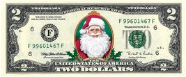 SANTA CLAUS REAL $2 Dollar Bill Money Cash Colorized Collectible Merry Christmas - $19.95