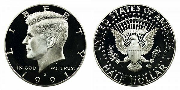 1991 S Proof Kennedy Half Dollar CP2030
