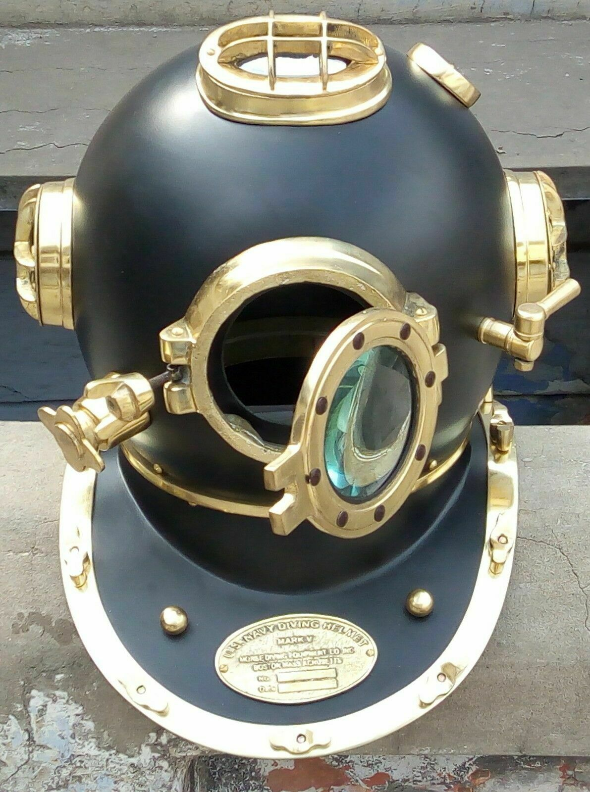 Antique Finished U.S. NAVY Mark V Diving Helmet