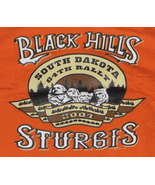 Mens STURGIS 2004 Orange T-Shirt Size M (38-40) Black Hills Motor Classics - $15.95