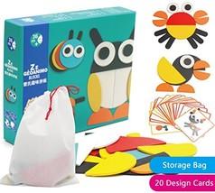 Creative Animal Geo Blocks Wooden Pattern Blocks Puzzles with 20 Designs... - $17.15