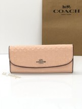 NWT Coach F26814 Envelope Wallet Signature Debossed Patent Leather Light Pink - $64.95