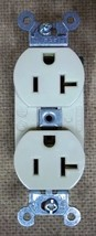 Hubbell CR5352I Smooth Face Ivory Duplex Receptacle - $9.90