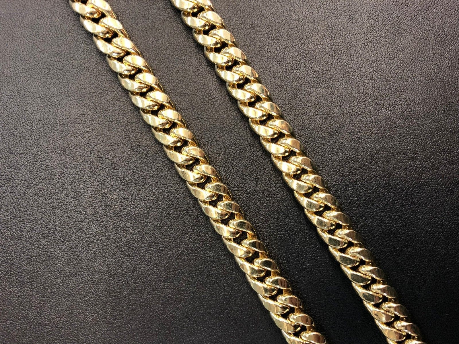 14K Yellow Gold Hollow 6mm Miami Cuban Chain Necklace 32""