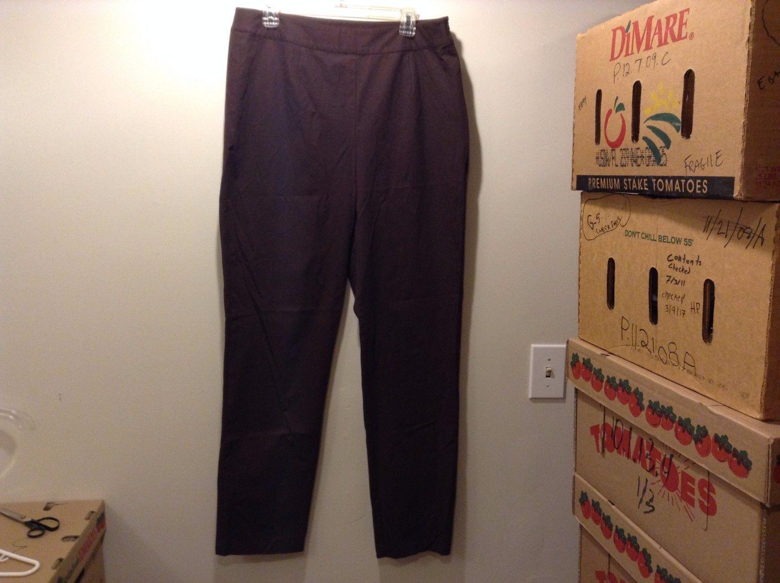L.L. Bean Nice Brown Dress Pants Sz 16T