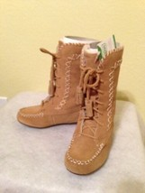 LANDS' END Boots Size: 10 NEW Toddler Girl NITA Moccasin Lace - $59.99