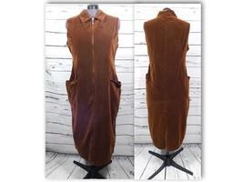 Venezia Jeans Cotton Long Velvet Dress Women's Pockets Size: 20